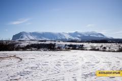 Гора Чатыр-Даг в снегу