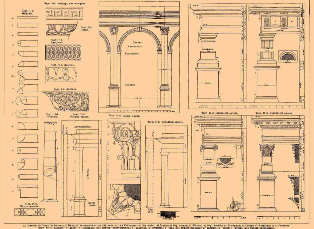 Архитектура с чертежами и
