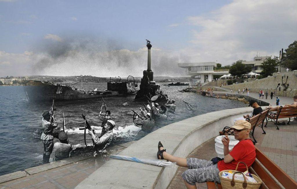 Памятник затопленным кораблям в годы войны